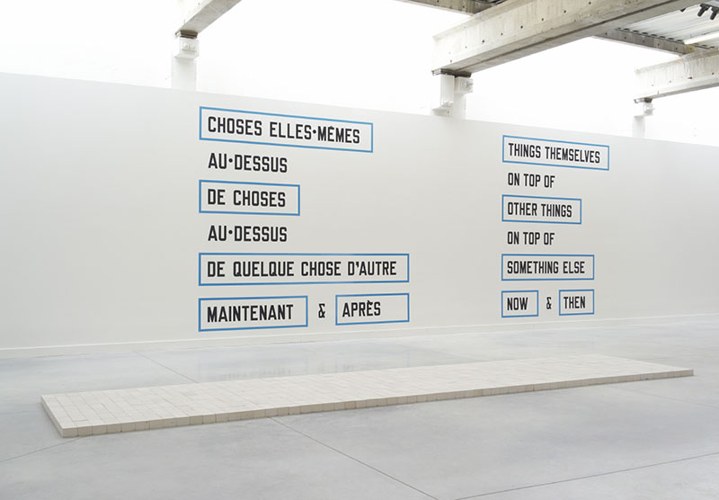 <p>Carl Andre<br class='autobr' /> Lawrence Weiner</p>